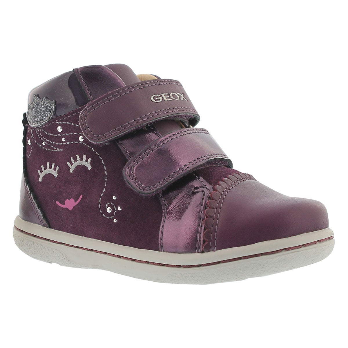 Inf Flick prune 2-strap hi-top sneaker