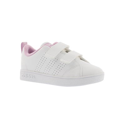 Adidas Infants' ADVANTAGE CLEAN CMF wht/pnk sneakers