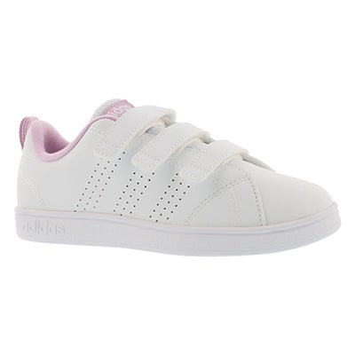 Adidas Espadrilles ADVANTAGE CLEAN CMF, blanc/rose, fille