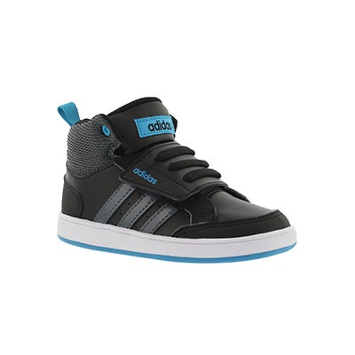 Infs-b HoopsCMF Mid bk/gy hightop sneakr