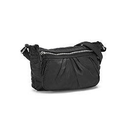 Lds black pearlized crossbody bag