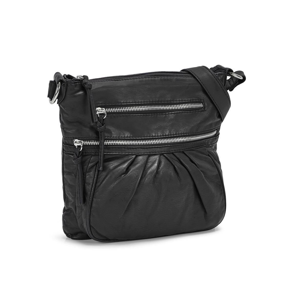 Lds black pearlized large crossbody bag