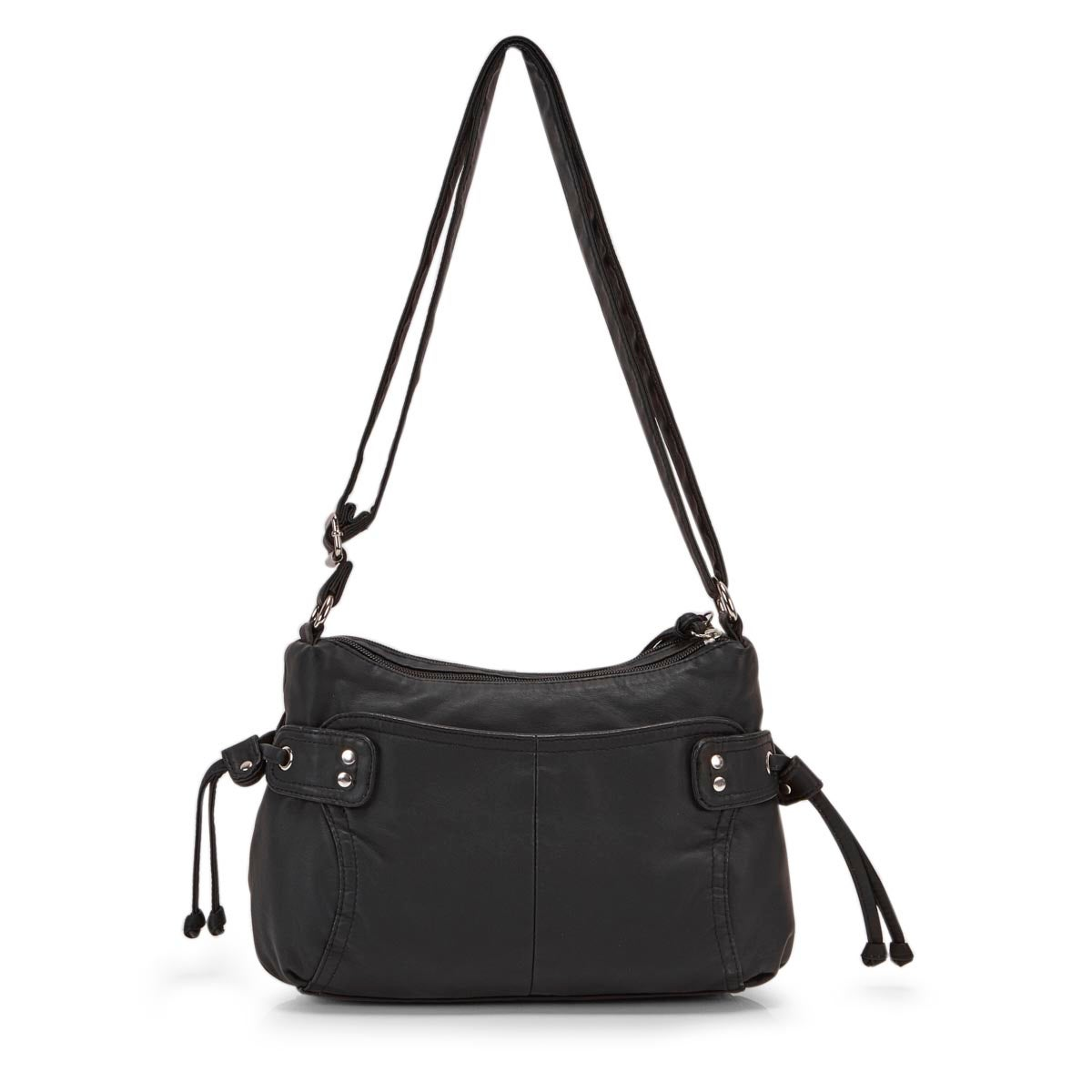 Lds black smooth crossbody bag