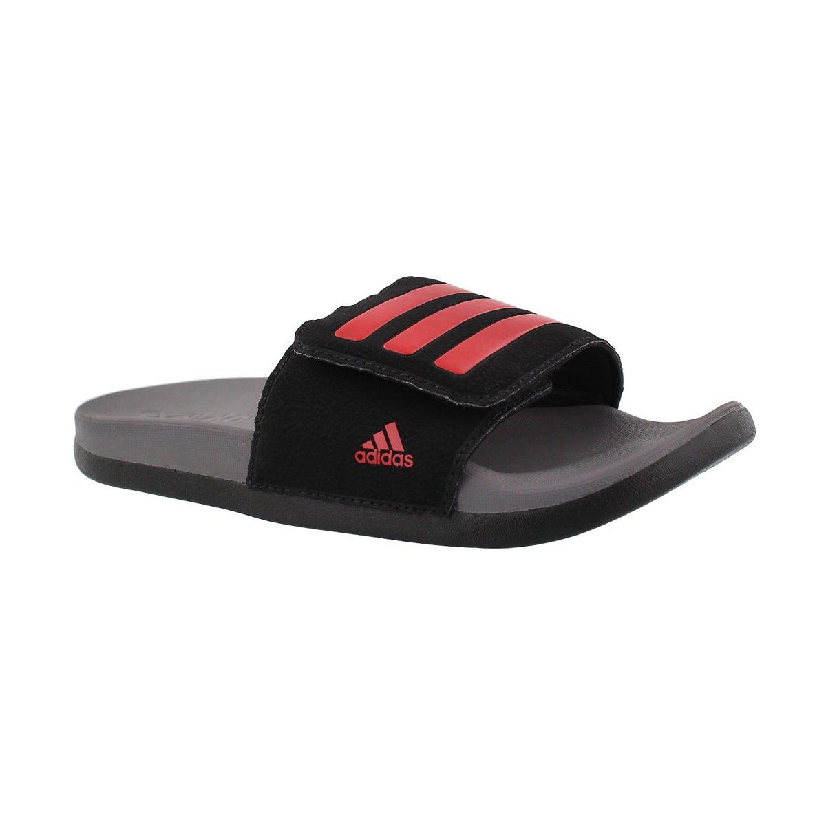 Kids' ADILETTE CLF black/red adjustable slides