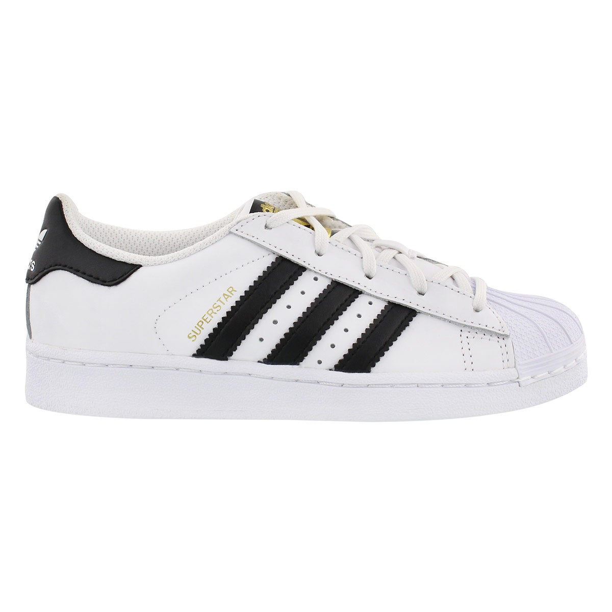 Chlds Superstar Foundation wht/blk shoe