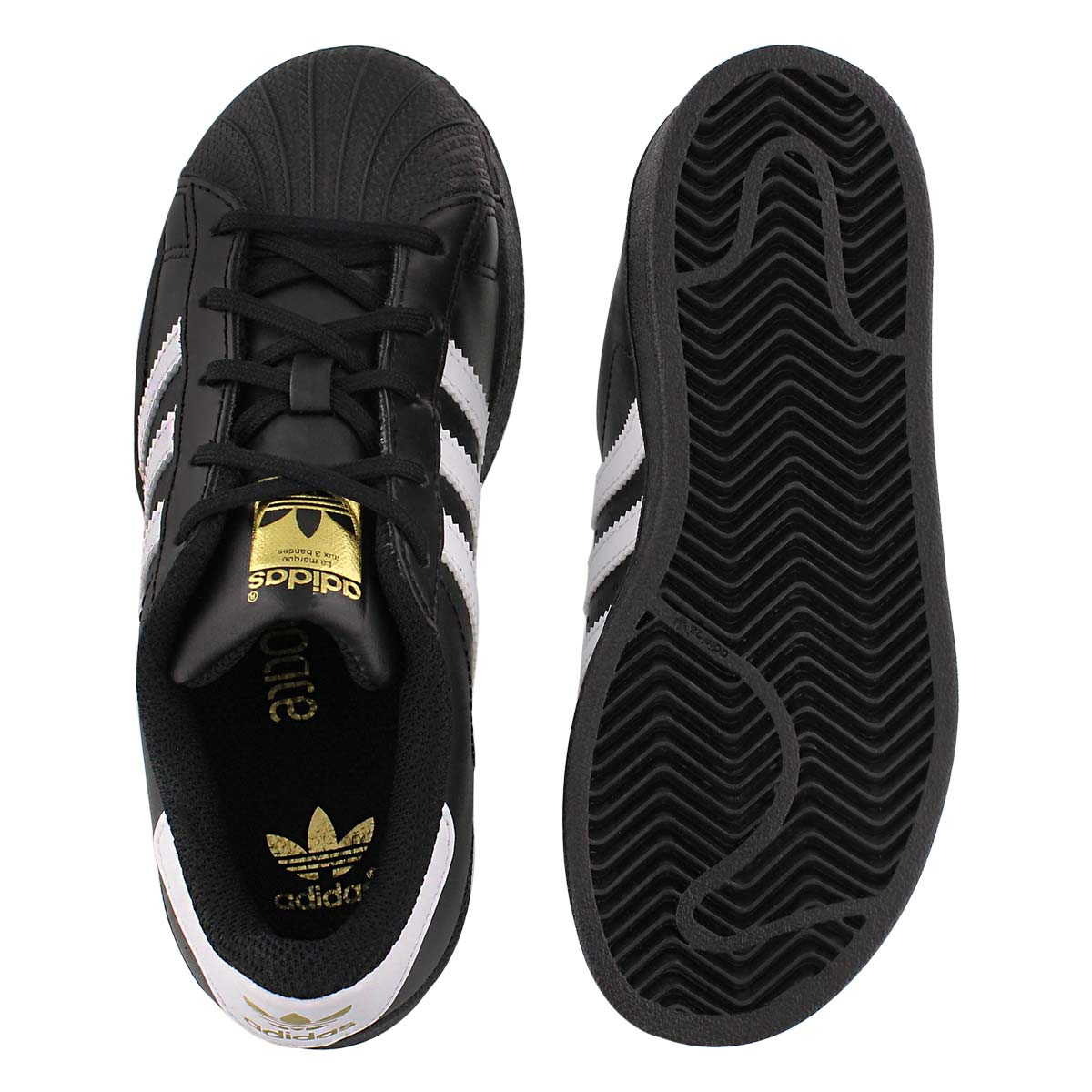 Bys Superstar blk/wht lace up sneaker
