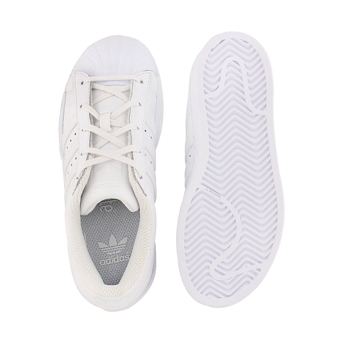 Chlds Superstar white lace up