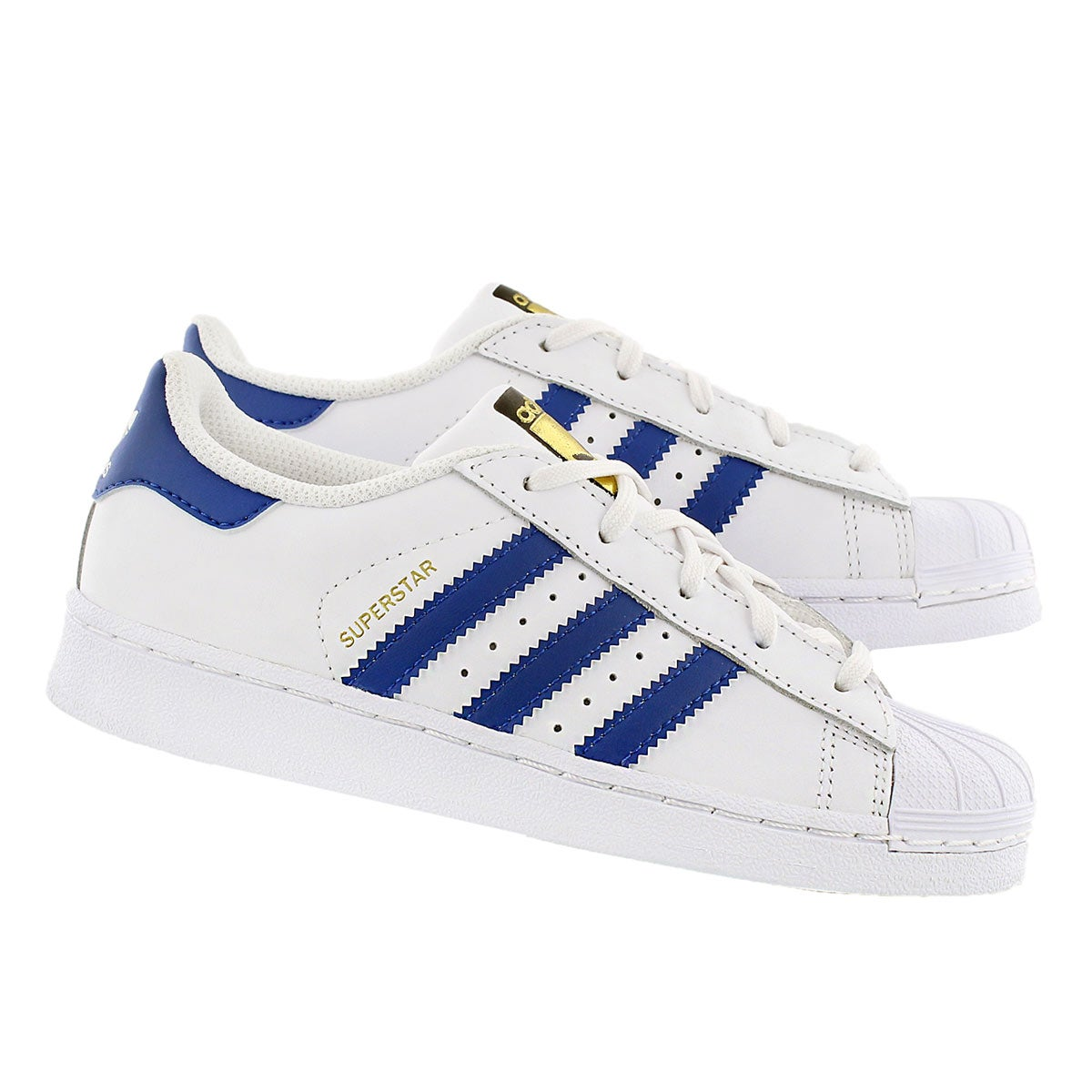 Bys Superstar wht/blue sneaker