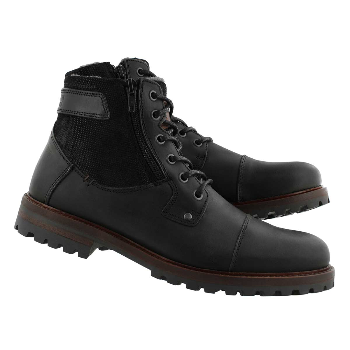 Mns Baden black lace up ankle boot