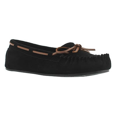 SoftMoc Women's BAE black unlined ballerina moccasins