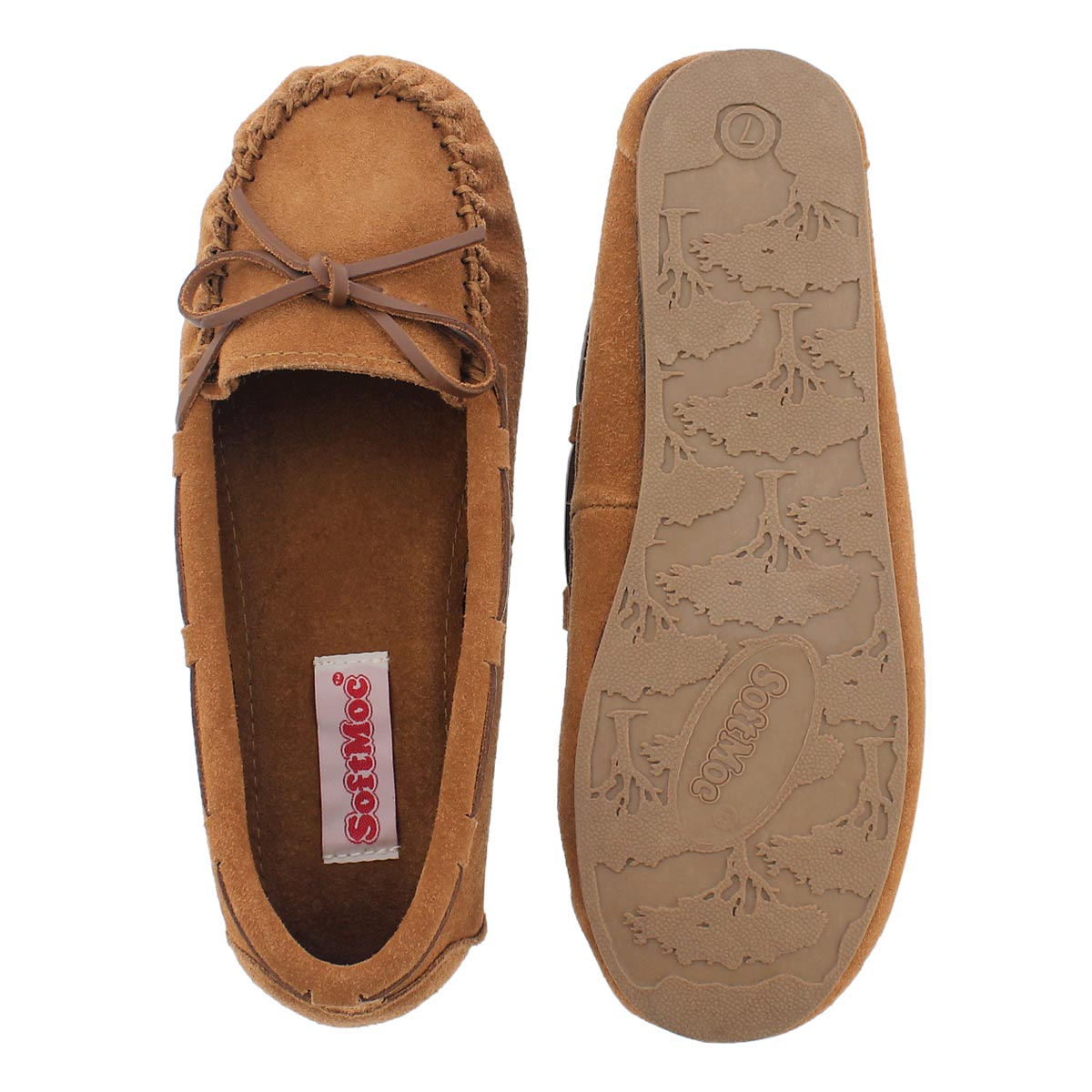 Lds Bae ches suede unlined ballerina moc