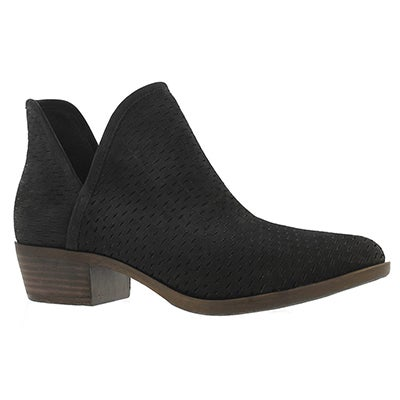 Lds Baley black slip on bootie