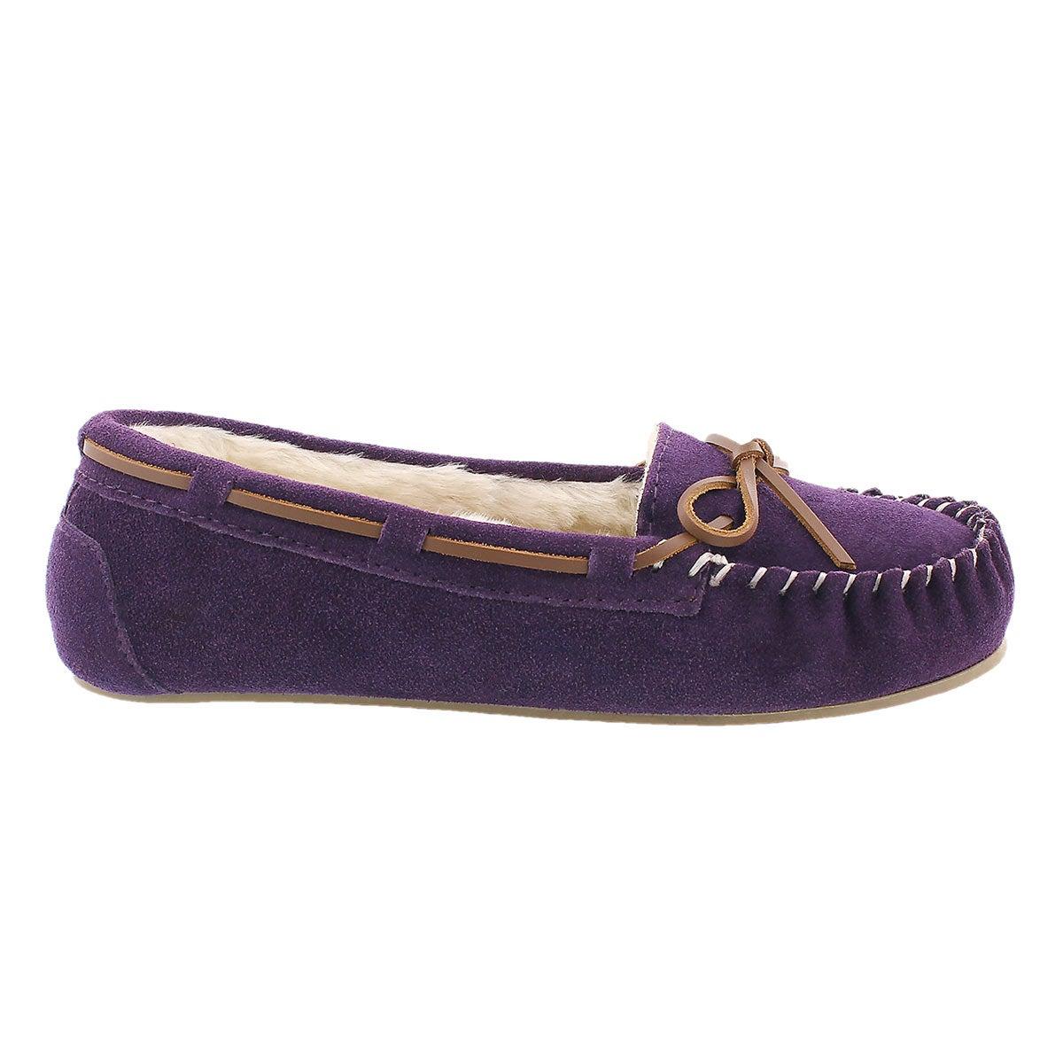 Lds Bali II purple suede ballerina moc