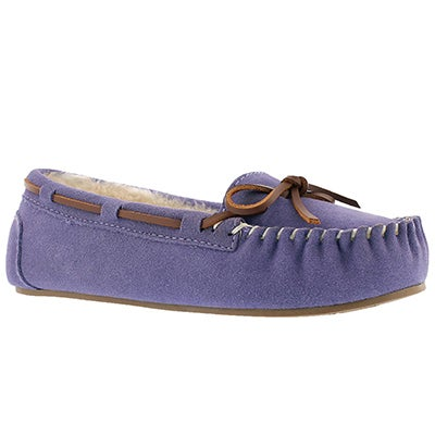SoftMoc Women's BALI II lavender suede ballerina moccasins