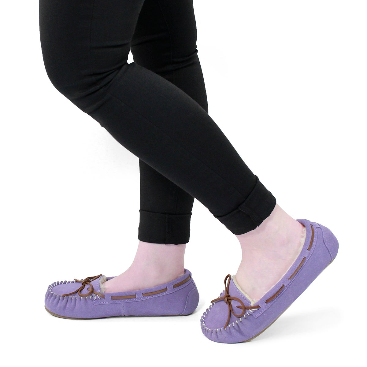 Lds Bali II lavender suede ballerina moc