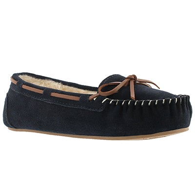 SoftMoc Women's BAIL II navy suede ballerina mocassins
