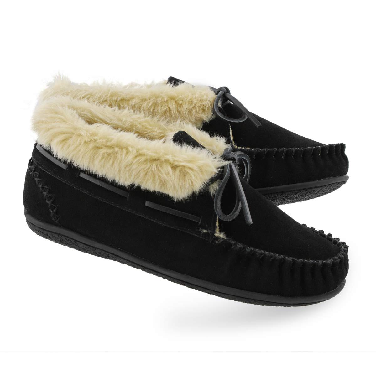 Women's BALI SUPREME HI black moccasin booties