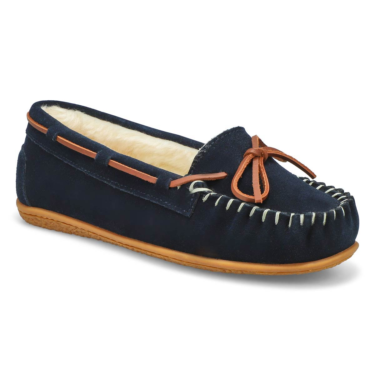 Women's BALI SUPREME nvy suede ballerina moccasins