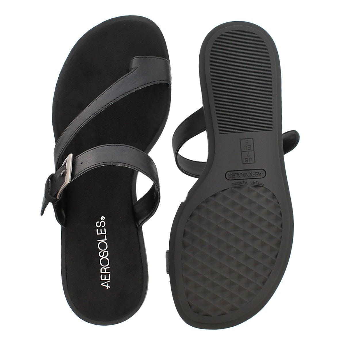 Lds Band Master black toe loop sandal