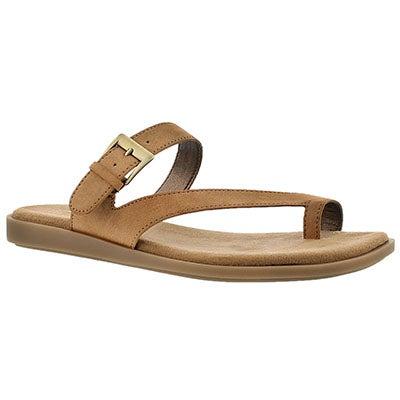 Aerosoles Women's BAND MASTER tan toe loop sandals