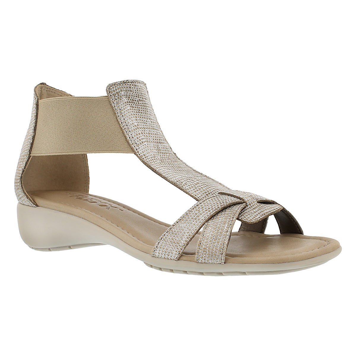 Women's BAND TOGETHER beige lizard sandals