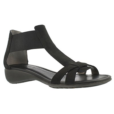 The Flexx Women's BAND TOGETHER black casual sandals