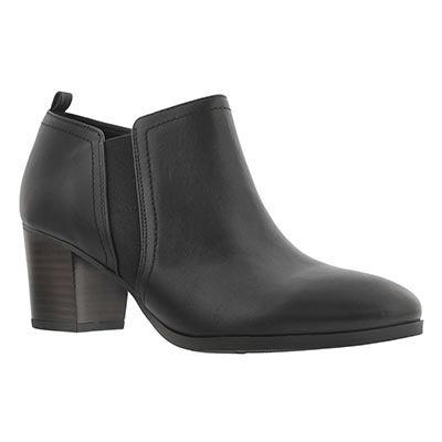 Franco Sarto Women's BANNER black low dress booties