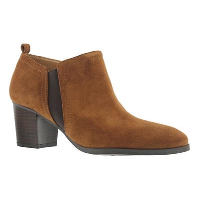 Lds Banner tan low dress bootie