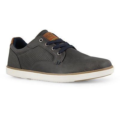 Mns Barnes grey lace up casual sneaker