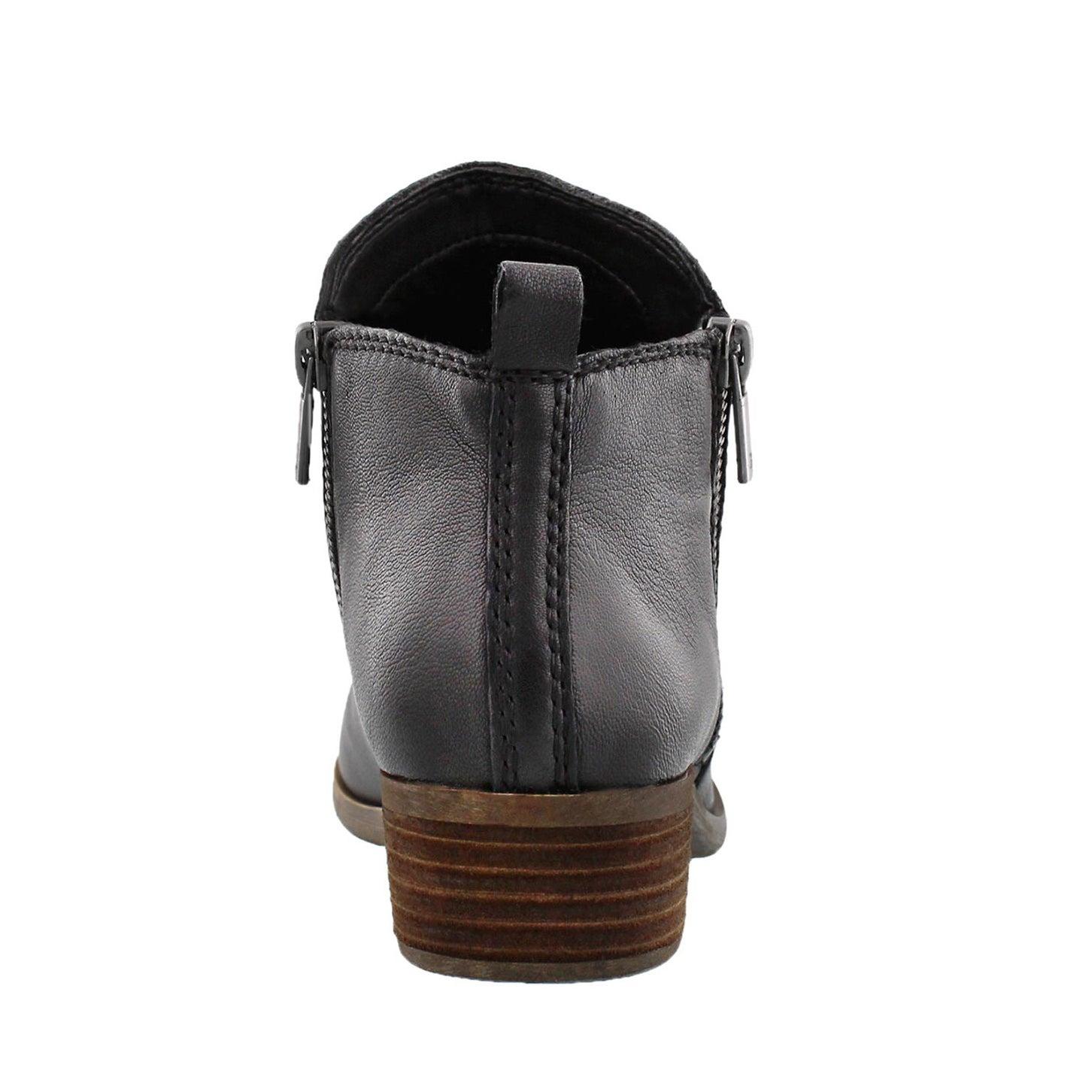 Lds Basel black zip up casual bootie