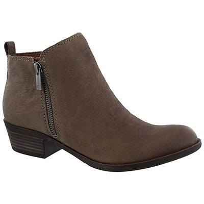 Lds Basel brindle zip up casual bootie