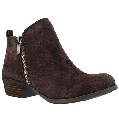Lucky Brand Women's BASEL java zip up casual booties