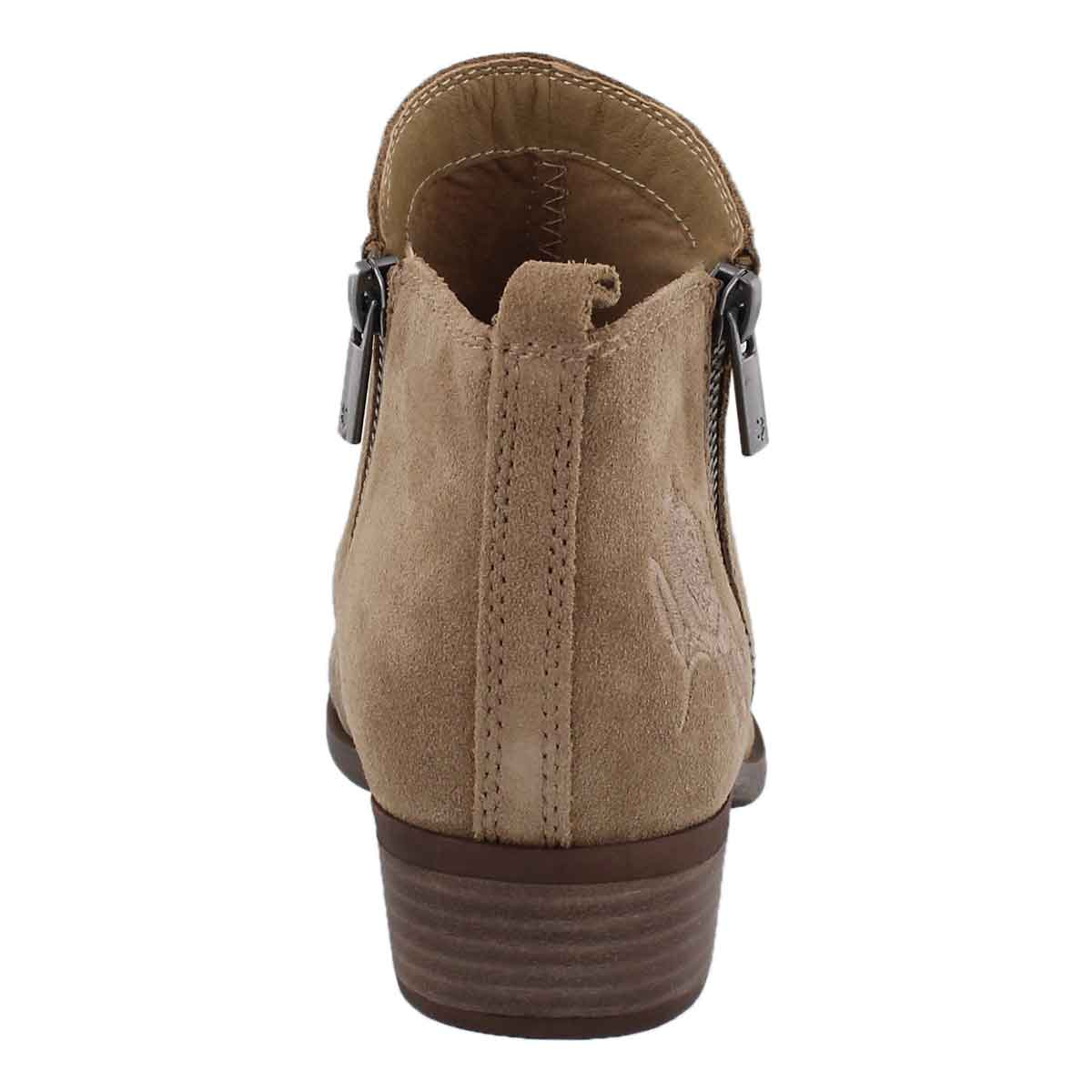 Lds Basel sesame zip up casual bootie