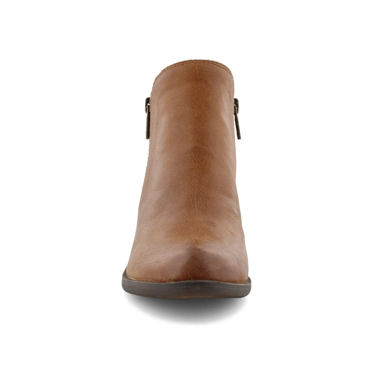 Lds Basel toffee zip up casual bootie