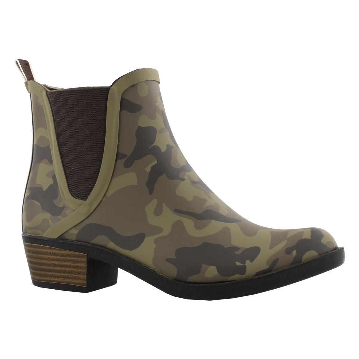 Lds Basel H20 camo chelsea rain boot