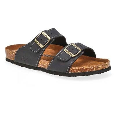 Mns Baz blk memory foam slide sandal
