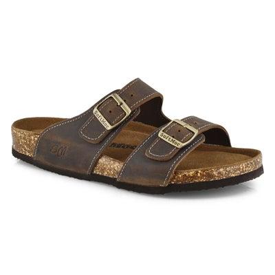 Mns Baz brn memory foam slide sandal