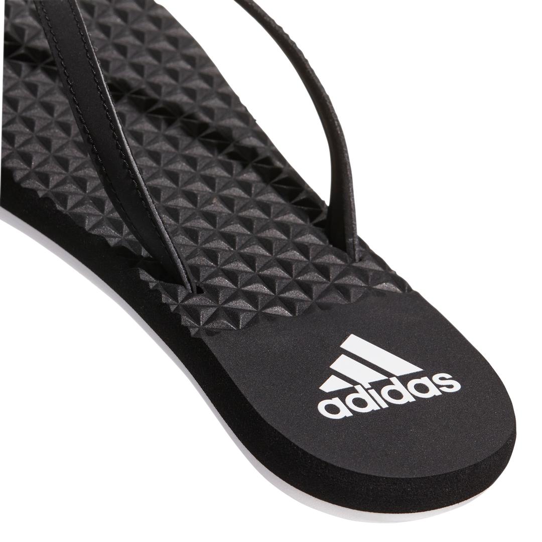 Lds Eezay Soft blk/wht thong sandal