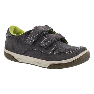Stride Rite Infants' ZACH grey hook & loop sneakers