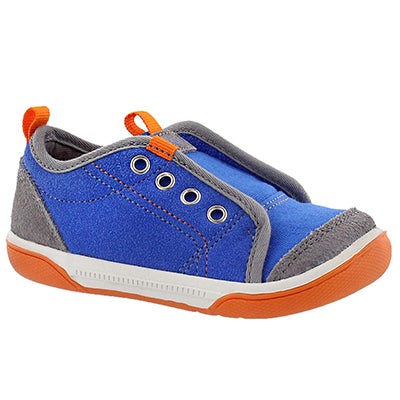 Stride Rite Infants' CHET blue laceless slip on sneakers