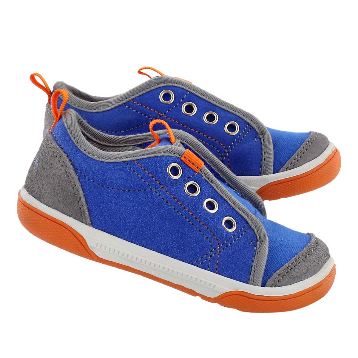 Inf Chet blue laceless slip on sneaker