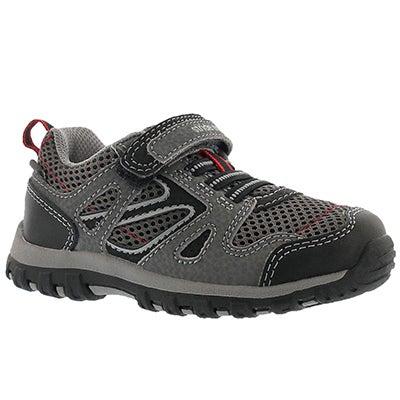 Infs M2P Artin grey hook & loop sneaker