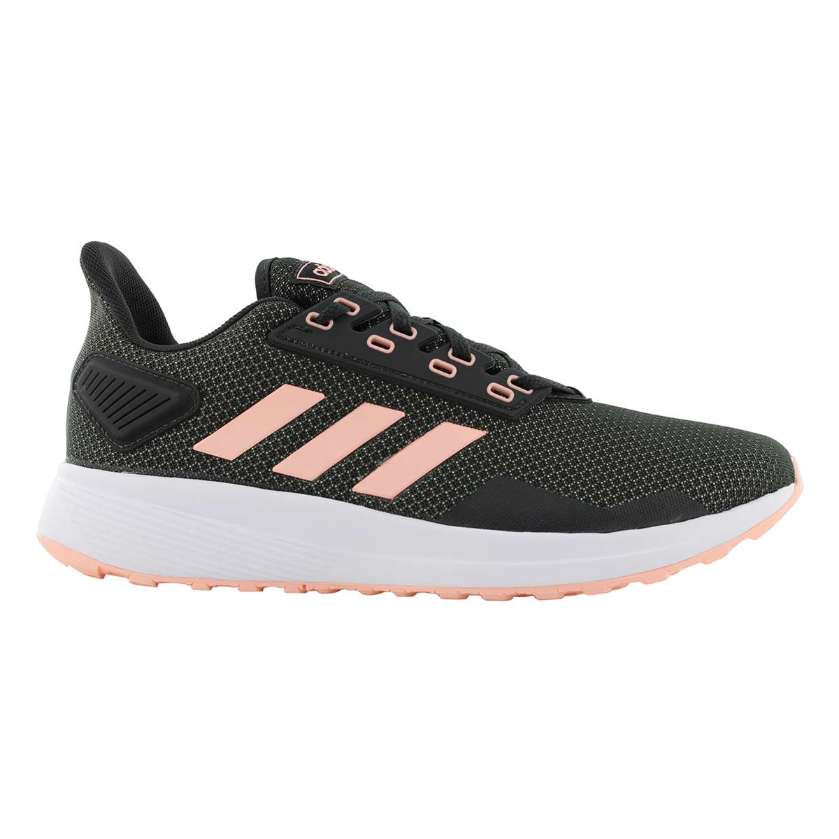 Lds Duramo 9 blk/peach running shoe