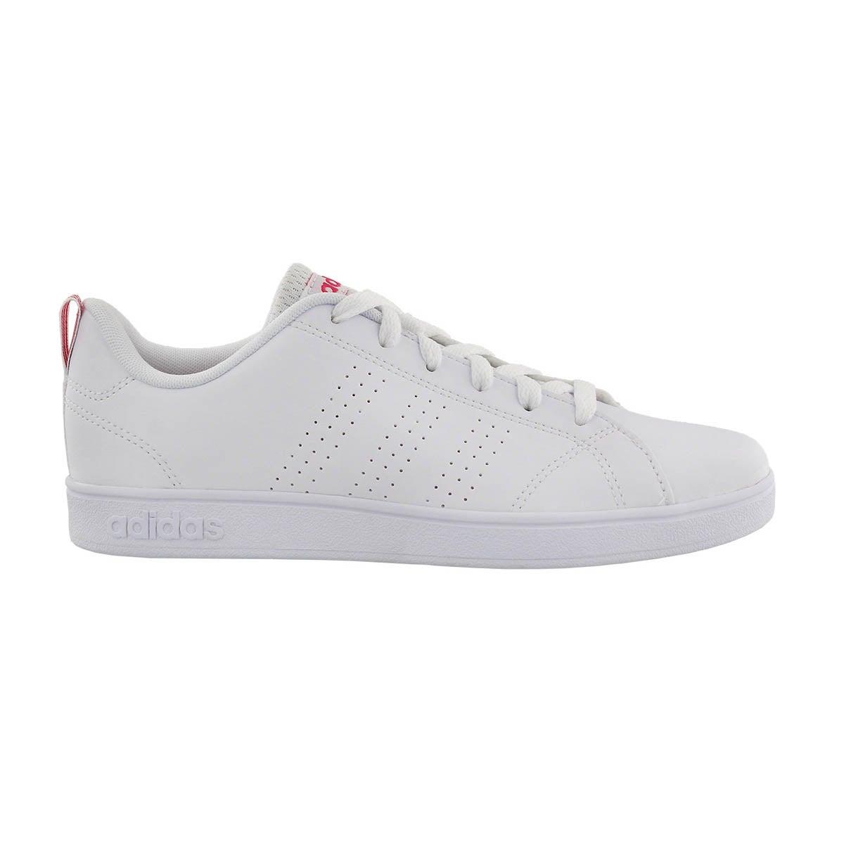 Grls Advantage Clean wht/pnk sneaker