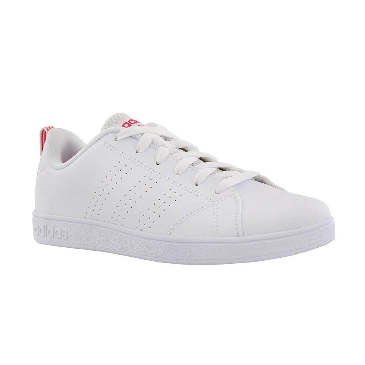 6ab77b878d4 adidas Kids  ADVANTAGE CLEAN white pink sneak