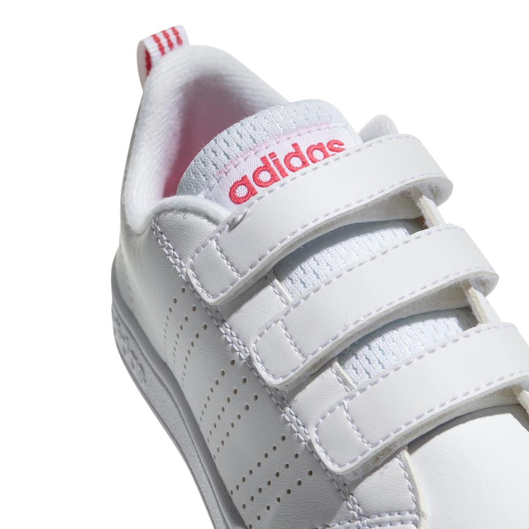 Grls Advantage Clean CMF wht/pnk sneaker