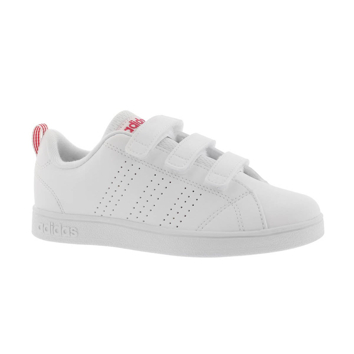 Girls' ADVANTAGE CLEAN CMF white/pink sneakers
