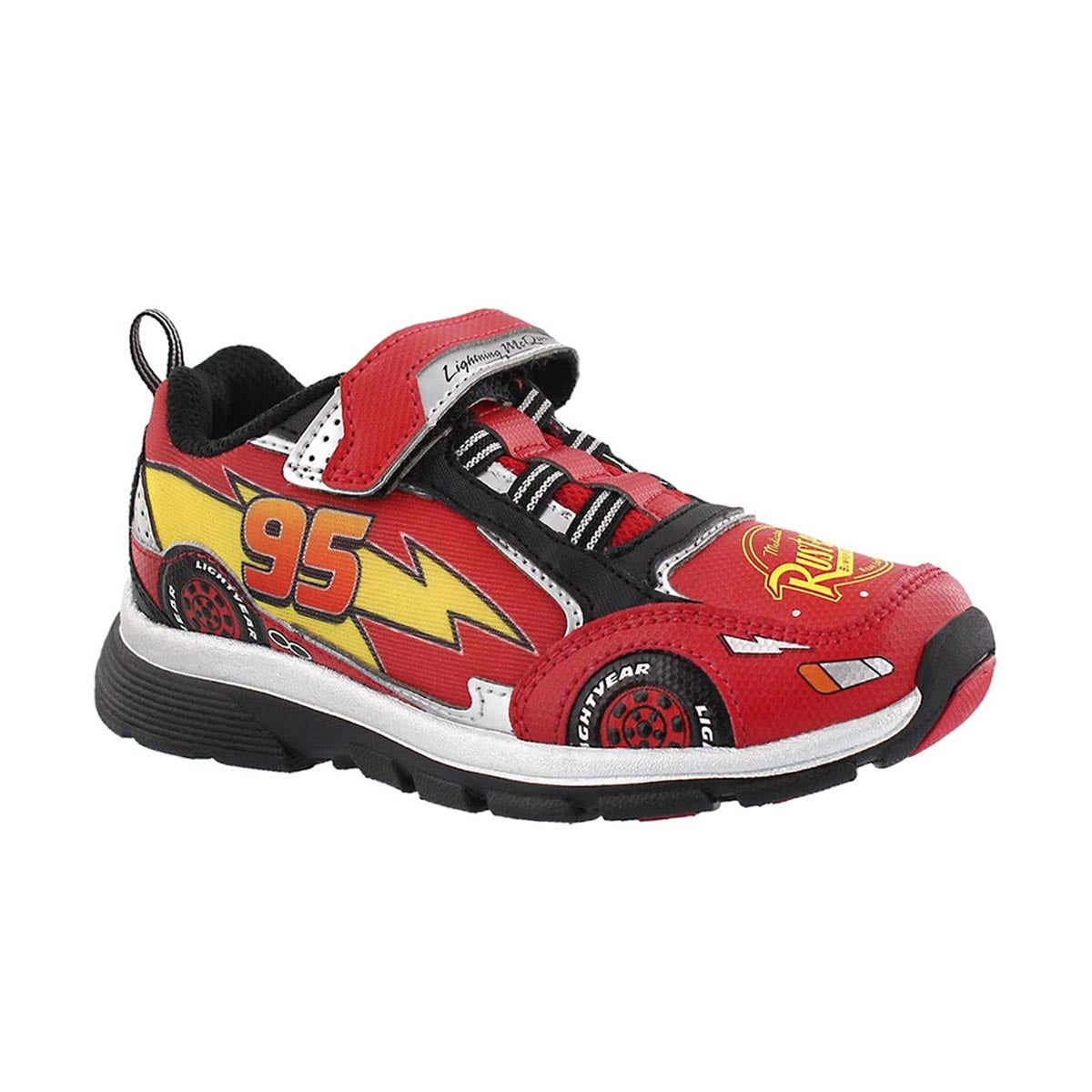 Boys' CARS LIGHTNING SPEED red light up sneakers
