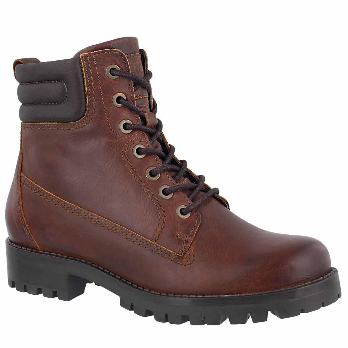 Lds Bea cognac lace up combat boot
