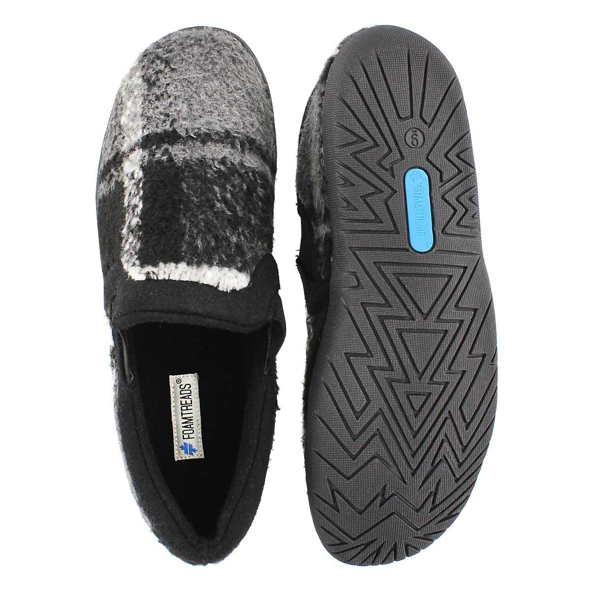 Mns Beaumont black closed back slipper